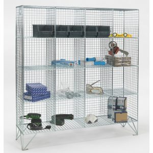 Multi Compartment Wire Mesh Lockers No Doors