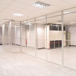Wire Mesh Partitions for Server Rooms