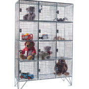 12 Comp Mesh Locker with Doors - For Education