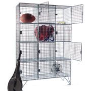12 Comp Mesh Locker with Doors - For Sports