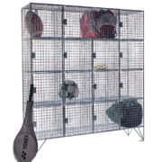 16 Comp Mesh Locker with Doors-For Sports