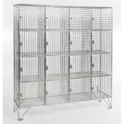 16 Compartment Wire Mesh Lockers With Doors (empty)