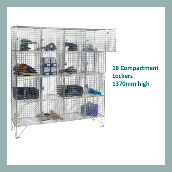 16-Compartment-Wire-Mesh-Locker-Doors
