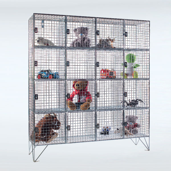 16 Compartment Wire Mesh Lockers Available From Stock