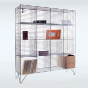 16 Compartment Wire Mesh Lockers Without Doors