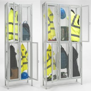 2 Door Industrial Wire Mesh Lockers