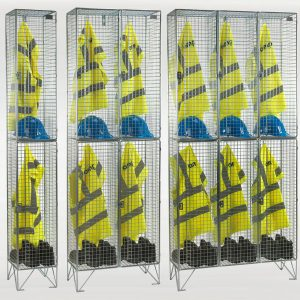 2 Door Wire Mesh Lockers