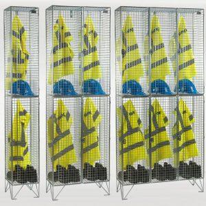 2 Door Wire Mesh Lockers