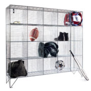 20 Compartment Wire Mesh Lockers No Doors