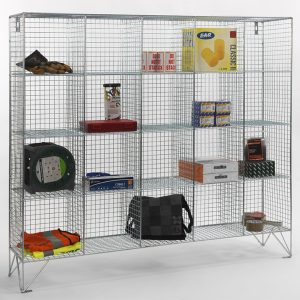 20 Compartment Wire Mesh Locker No Doors