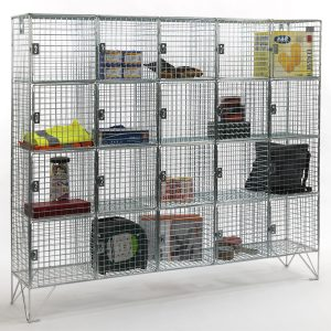 20 Compartment Wire Mesh Locker With Doors