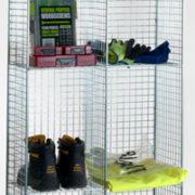 4 Comp Locker No Doors - Nest of 2