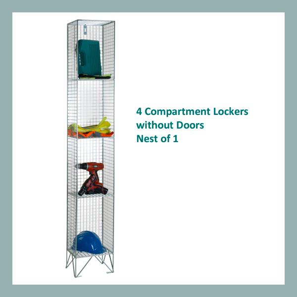 4-Comp-Wire-Mesh-Locker-Nest-of-1-No-Doors