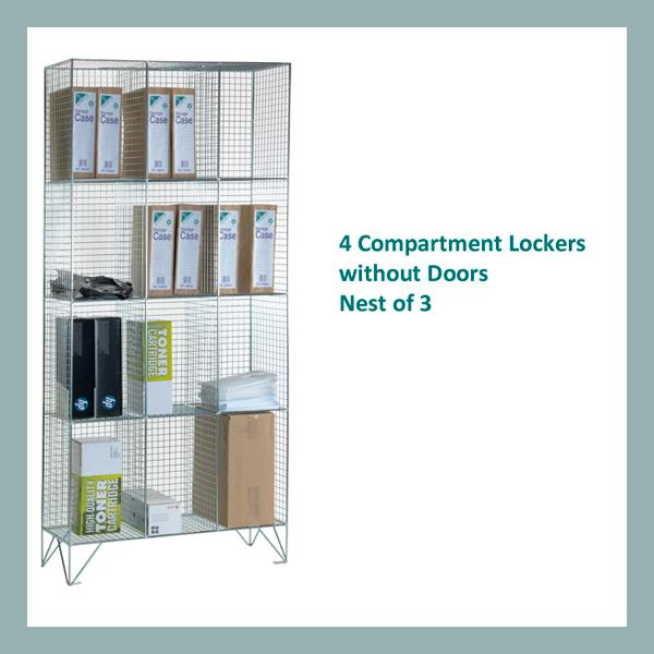 4-Comp-Wire-Mesh-Locker-Nest-of-3-No-Doors
