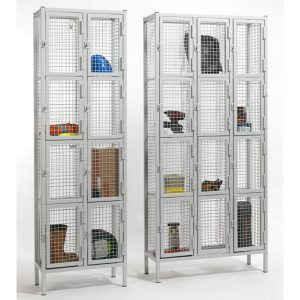 4 Door Industrial Wire Mesh Lockers