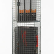 4 Door Nest of 1 Wire Mesh Locker