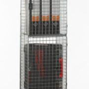 4 Door Nest of 1 Wire Mesh Locker