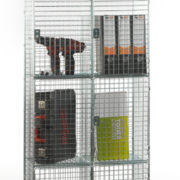4 Door Nest of 2 Wire Mesh Locker