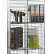 4 Door Nest of 2 Wire Mesh Locker