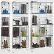 4 Door Wire Mesh Lockers