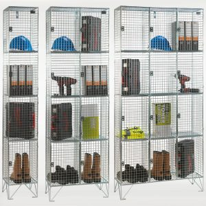 4 Door Wire Mesh Lockers