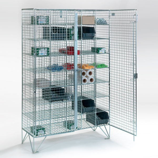 40 Compartment Wire Mesh Lockers - From AMP Wire