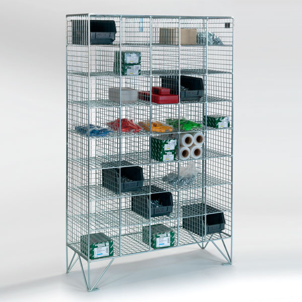 40 Compartment Wire Mesh Lockers Without Doors
