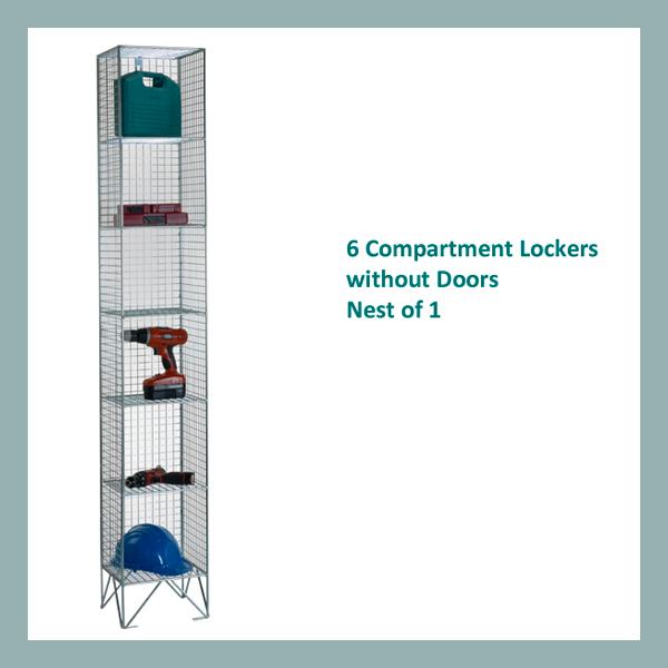 6-Comp-Wire-Mesh-Locker-Nest-of-1-No-Doors