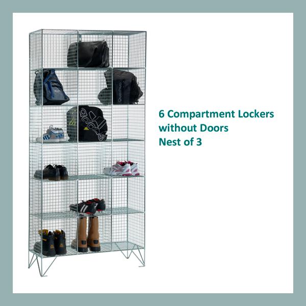 6-Comp-Wire-Mesh-Locker-Nest-of-3-No Doors