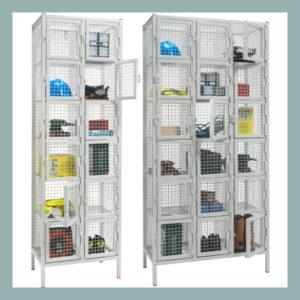 6 Door Wire Mesh Emergency Services Lockers