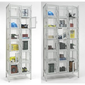 6 Door Industrial Wire Mesh Lockers