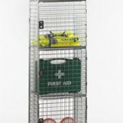 6 Door Nest of 1 Wire Mesh Locker