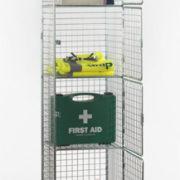 6 Door Nest of 1 Wire Mesh Locker - Open