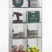 6 Door Nest of 2 Wire Mesh Locker