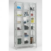 6 Door Nest of 3 Industrial Mesh Locker