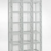 6 Door Nest of 3 Industrial Mesh Locker empty)