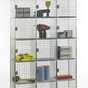6 Door Nest of 3 Wire Mesh Locker