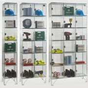 6 Door Wire Mesh Lockers