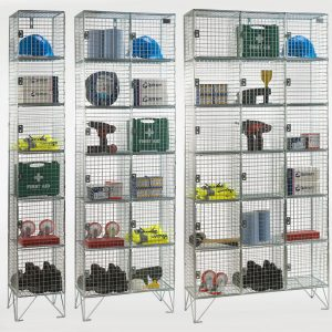 6 Door Wire Mesh Lockers