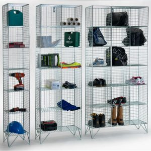 6 Door Wire Mesh Lockers Without Doors