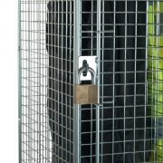 Hasp & Staple Locking for 1 Door Wire Mesh Lockers