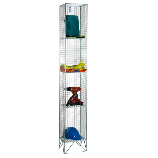 Wire Mesh 4 Comp Nest of 1 Wire Mesh Lockers by AMP Wire Ltd