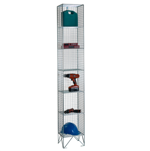 Wire Mesh 6 Comp Nest of 1 Wire Mesh Lockers by AMP Wire Ltd
