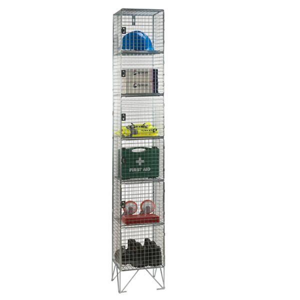 Wire Mesh 6 Door Nest of 1 Wire Mesh Lockers by AMP Wire Ltd