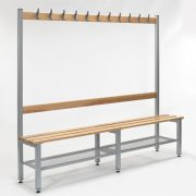 2000 mm Single Sided Bench with Shoe Trays & Adjustable Feet