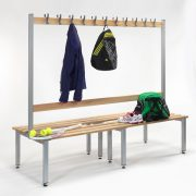 2000mm Double Sided Bench with Hooks & Adjustable Feet