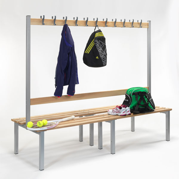 2000mm Double Sided Bench with Hooks