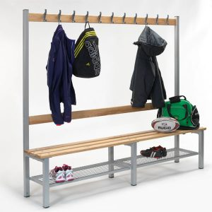 2000mm Single Sided Bench with Shoe Trays