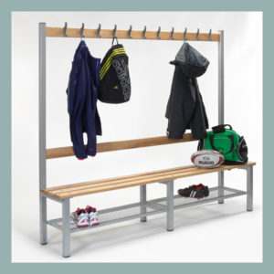 Changing-Room-Bench-with-Hooks-&-Shoe-Shelf-2000mm-Long