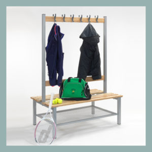 Changing-Room-Island-Bench-with-Hooks-&-Shoe-Shelf